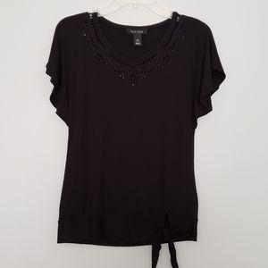 White House Black Market Cutout Collar Blouse XS